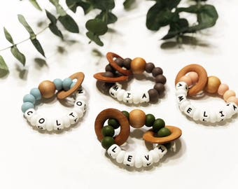 Just For Me Collection| custom teether | baby teether | silicone teethers | personalize teethers|