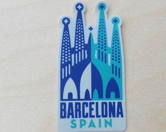 Barcelona Spain Travel Sticker