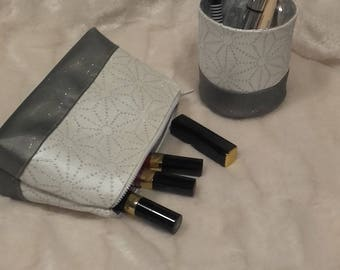 Makeup and a pencil holder