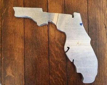 Florida, State of Florida, wooden Florida, customized Florida, Florida wall decor, Florida decor, wood Florida