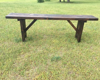 Flower Garden or Farmhouse Sitting Bench Built to your sizes