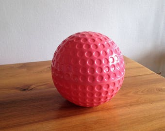 Pink golf - ball ice bucket - 1970