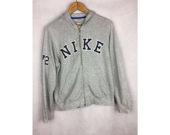 NIKE Medium Size Hoodies With Big Spell Out Logo Fully Zipper