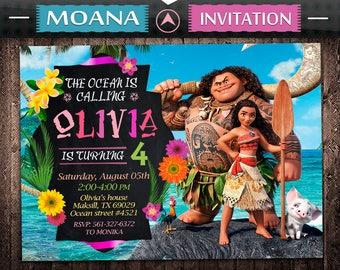 Moana Invitation, Moana Birthday, Moana Invite, Moana Party, Moana Printable, Moana Digital, Moana Card