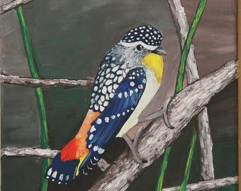"""10"""" x 8"""", Colorful Bird"""