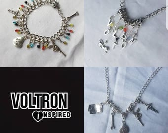 Voltron Legendary Defenders paladin inspired Bracelet OR Necklace - all characters