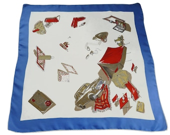 """Scarf Camping Summer Tent VINTAGE 50s 30""""x30"""""""