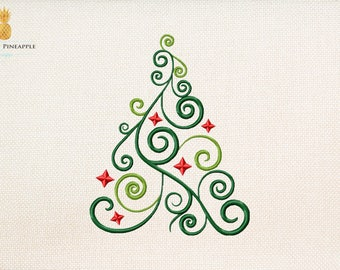 Christmas tree - christmas embroidery - holiday embroidery - Instant Download Machine embroidery design