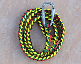 THE KYLIE || Custom Paracord Leash || Carabiner || Braided Leash || Hiking || Lightweight Leash