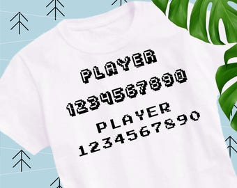 Gaming letters numbers svg Game Controller svg gamepad svg video game cut files cutting file Svg Files for Cricut Silhouette svg dxf lfvs