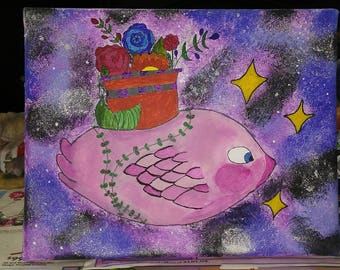 Fish Plant In Space