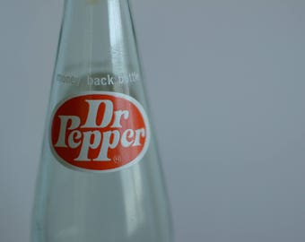 Vintage Glass Dr. Pepper Bottle