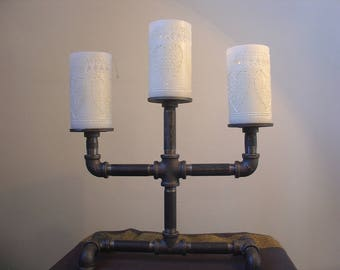 Gas Pipe, Industrial Chic Pillar Candelabra