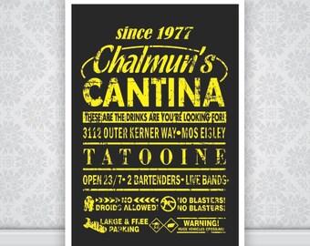 Chalmuns Cantina Star Wars Poster