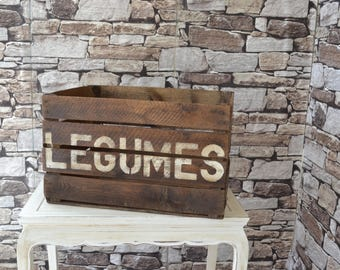 Vintage French Vegetable Crate