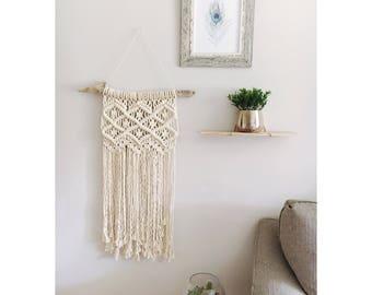 Customized Macrame Wall Hanging / Modern Macrame / Personalized / Wedding Gift