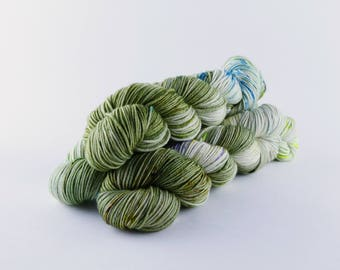 "Hand Dyed Yarn ""Malachite"" Colorway"