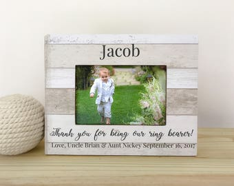 Personalized Ring Bearer Frame Ring Bearer Gift Thank You Gift for Ring Bearer