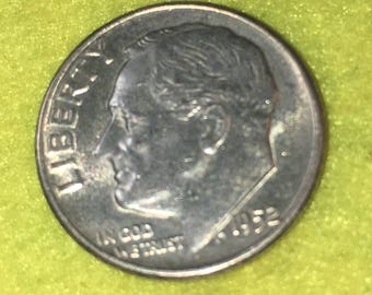 1952-P Roosevelt Dime Original High Grade<> Coin you see is Coin you get / Free S&H on this order  <>#BCE-543