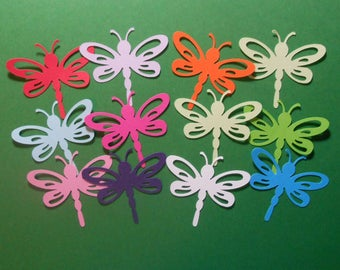 """24 Dragonfly Die Cuts 2"""" x 1 3/4"""" - Cardstock Paper Dragonfly Embellishments, Scrapbooking, Card Making"""