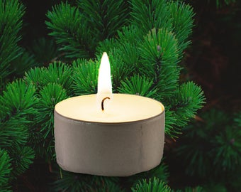 Pine Tree Vegan Soy Handmade Scented Tealights