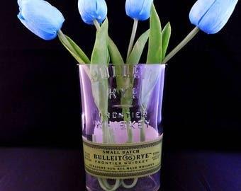 750 ml Bulleit Whiskey Glass Vase