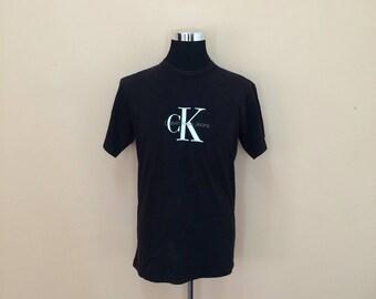 Vintage 90's Calvin Klein T-Shirt Big Logo // Calvin Klein Tee // CK T-shirt