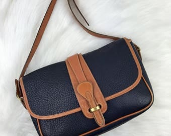 DOONEY & BOURKE Navy and Tan AWL Crossbody Bag