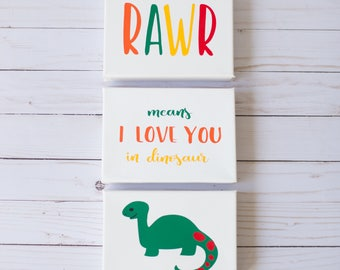 Rawr Means I Love You In Dinosaur Dinosaur Wall Art Dinosaur