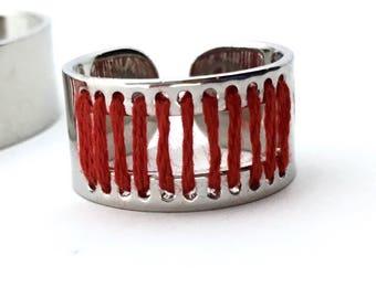 Finger Ring Raspberrysilver