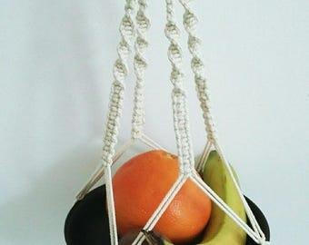 off white macrame hanging
