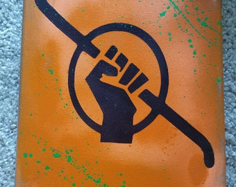 Half Life Freedom Symbol Spray Paint Canvas