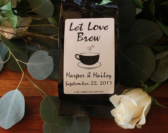 Wedding Coffee Favors - Let Love Brew