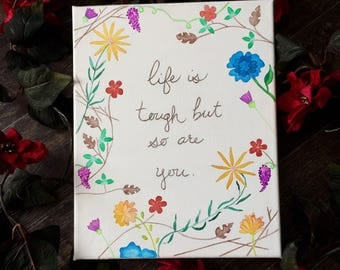 "Motivational Quote; 9""x12"" Watercolor Painting"