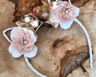 Sweet handmade floral headband