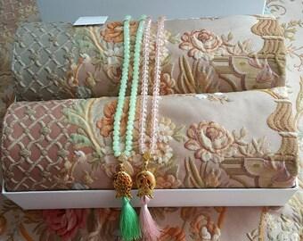 Royal Sejadah - Couple Prayer Mats - Prayer Rug - Janamaz - Elegant, High Quality - A Unique Islamic Gift Set - %100 Satisfaction Guarantee