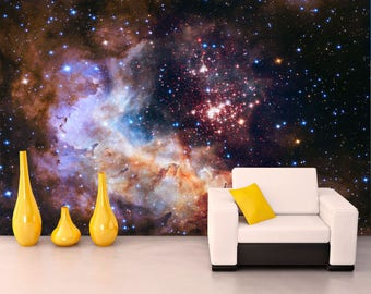 Wall Mural Galaxy. Wall Mural Decal For Decor.