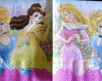 4 small Princess napkin