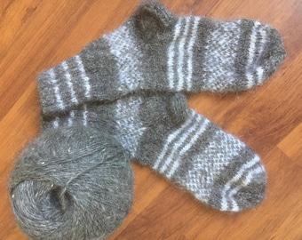 Women's goat's down socks, children's goat's down socks, 100% Russian goat's down, double knit, free shipping