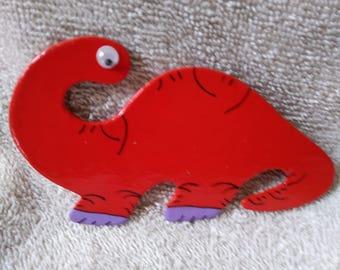 Dinosaur Magnet - Red