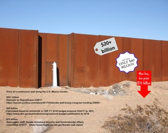 border wall postcards (set of 4)