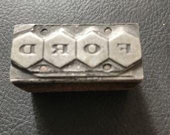 Ford printing block