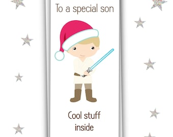 Star Wars Themed Christmas Money Wallet For Son, Grandson, Daughter/Gift Card/Free UK Shipping
