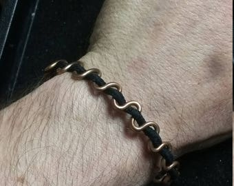 Copper Wire Bracelet / One Size Fits Most /