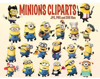 Minion clipart etsy 20 minions cliparts printable minions despicable me clipartsminions stickers stopboris Images