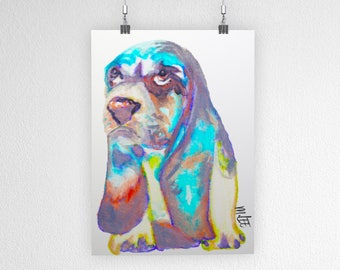 Art Print: Basset Hound