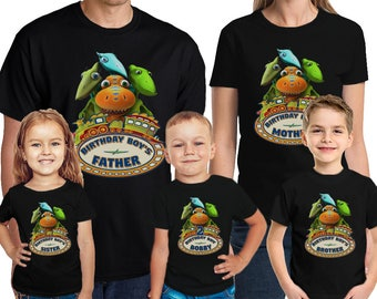 Dinosaur Train Birthday Shirt Custom Name and Age Personalized Dinosaur Train Birthday Boy TShirt