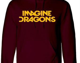 IMAGINE DRAGONS Hoodie | tour demons word arch,Best Quality Hood