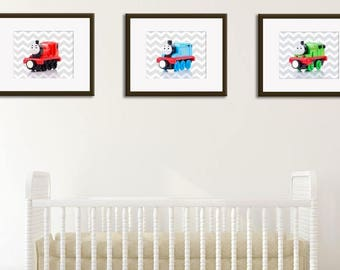 Discount Set of 3 Thomas and friends wall prints, Thomas the train, boys room decor, baby boy nursery, nursery prints, Thomas nursery