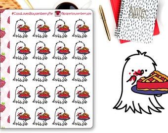 Cosa Loves Boysenberry Pie Stickers - Pie Stickers - Boysenberry Pie Stickers - Planner Stickers